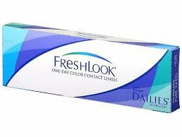 FreshLook Dailies Colors - 18.80€ - Έγχρωμοι μαλακοί ημερήσιοι φακοί της Alcon-Ciba Vision. Με περίγραμμα. Κάθε κουτί περιέχει 10 φακούς. Υδροφιλία 55%. 4 χρώματα, δίνουν δυνατότητα αλλαγής στο χρώμα των ματιών όσο συχνά επιθυμείτε. Εύκολος, οικονομικός τρόπος για να δοκιμάσει κάποιος αλλαγή στο χρώμα των ματιών, ακολουθώντας κανόνες υγιεινής και οδηγίες χρήσης που έχει δώσει ο εφαρμοστής του. Συνδυάζουν τρία χρώματα σε ένα, με αποτέλεσμα η απόδοση του χρώματος να είναι πολύ φυσική.