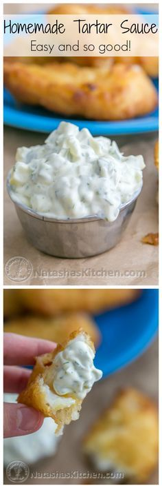 Try this quick and easy tartar sauce recipe and you'll never want store-bought again!   NatashasKitchen.com
