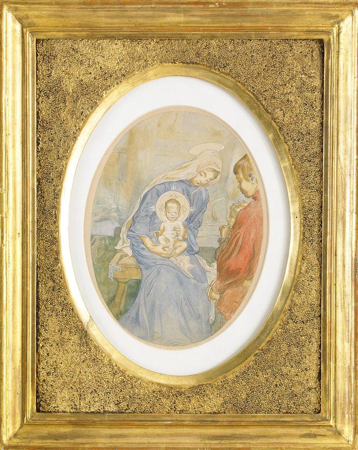 "CARL LARSSON, 1895, ""Jungfru Maria med Jesusbarnet / Madonna"""