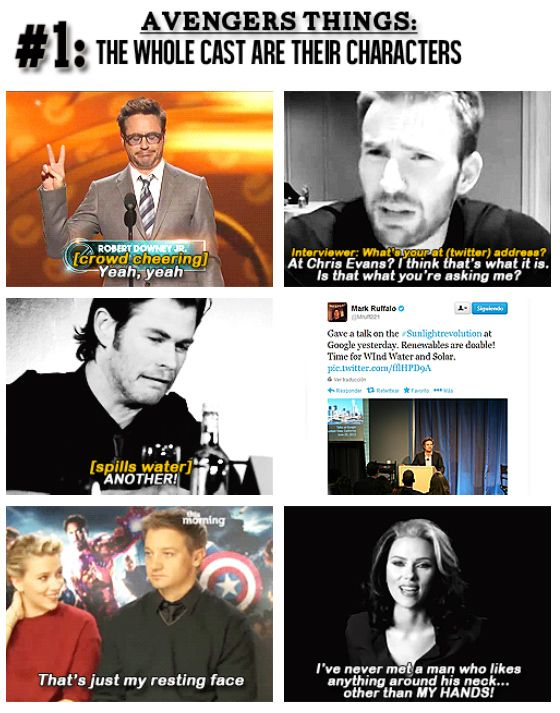 Avengers: The whole cast are their characters - this is why Avengers is my favorite feel good movie.