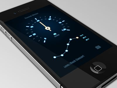 Ambient Noise one-screen app interface