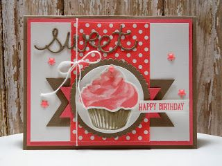 Peanuts and Peppers Papercrafting: Try It Thursday - Stampin' Up! Sweet Cupcake Birthday Card