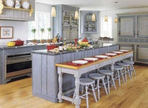 An Oddly Shaped Kitchen Island: Different Shaped Kitchen Table Islands