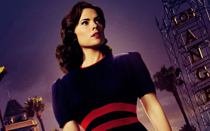 Download wallpapers Agent Carter, 2017, TV series, Hayley Atwell, Peggy Carter, 3 season, American television series