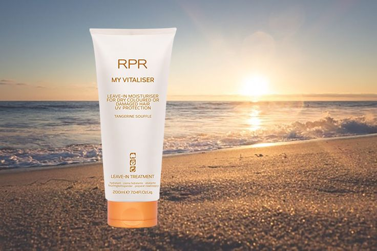 UV protection for hair for longer lasting colour. RPR My Vitaliser Leave-In moisturiser treats dry, damaged or coloured hair. www.rprhaircare.com.au/7021/My-VITALISER-200ML/pd.php