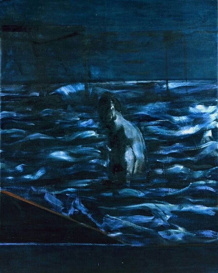 Figure in the Sea - Deep in the Blue Francis Bacon, 1957