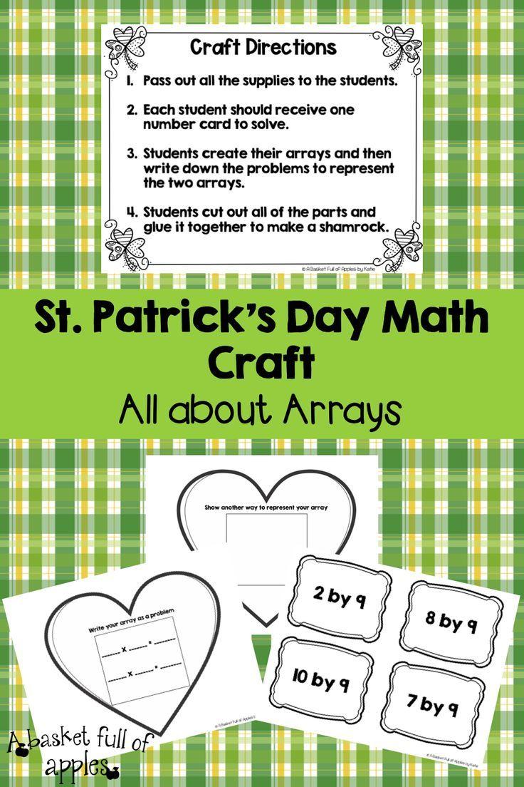 St Patricks Day Math Craft Math Crafts Math St Patricks Day