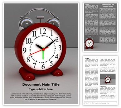 Download our #Alarm Clock Word document #template now for effective business #documents. #TheTemplateWizard Alarm Clock Microsoft Word template is a complete package – ready to be edited and printed. These Alarm Clock Word doc templates could be used perfectly for #themes and #backgrounds related to #Business, Time #Management, #Deadline and such topics.