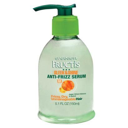 Garnier Fructis Sleek & Shine Anti-Frizz Serum, great substitute for Kerastase Oleo Relax serum.