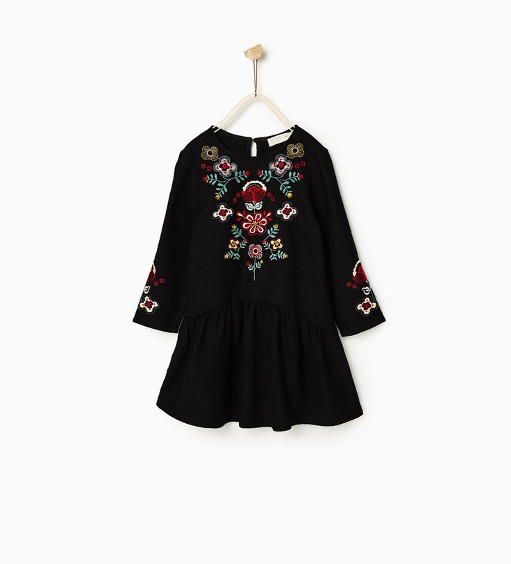FLORAL EMBROIDERED DRESS-DRESSES AND JUMPSUITS-GIRL | 4-14 years-KIDS | ZARA United States