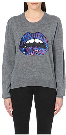 Pin for Later: Must Haves From London Fashion Week's Big Names Markus Lupfer Lara Tribal-Lips Sequinned Jumper Markus Lupfer Lara Tribal-Lips Sequinned Jumper (£335)