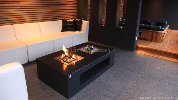 Firetable design by erik van gelder vuurtafel modern ontwerp tafelhaard - Decoratie binnen veranda ...