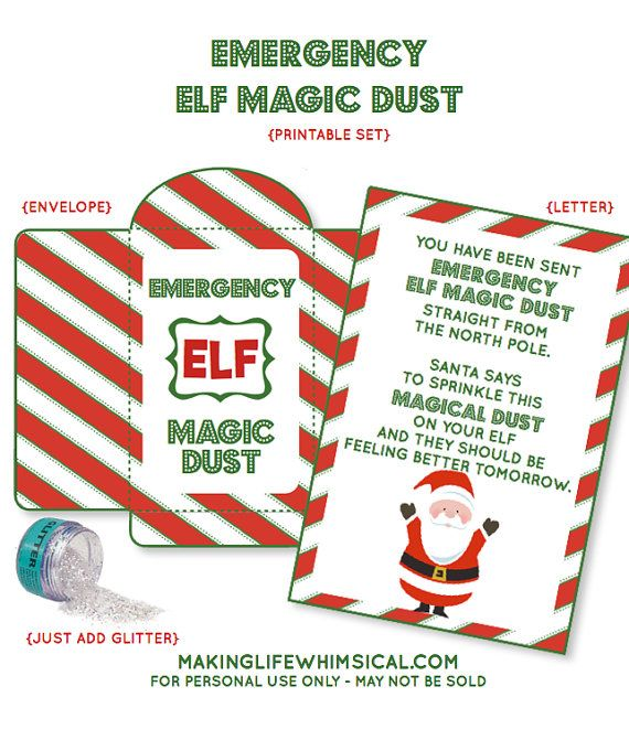 INSTANT DOWNLOAD Emergency Elf Magic Dust by MakingLifeWhimsical, $4.00