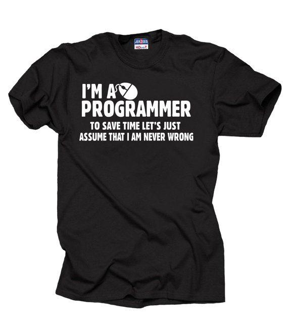 Cadeau voor een programmeur T-Shirt ben ik programmeur T-shirt grappige…