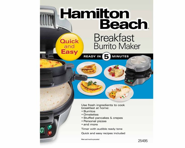 Breakfast Burrito Maker | Breakfast | Hamilton Beach®