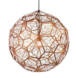 Replica Tom Dixon Etch Light Web Copper Pendant Light- Large//dining