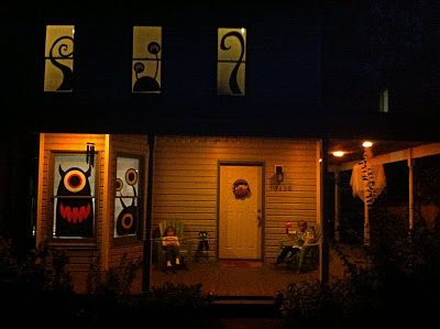 silly monsters homemade halloween window decorations simple shapes more pics website eachean