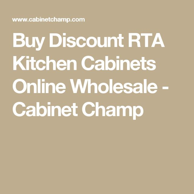 Buy Discount RTA Kitchen Cabinets Online Wholesale - Cabinet Champ