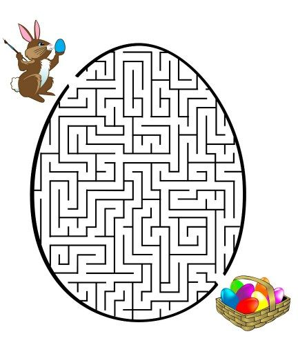 FREE # Easter maze for #children!  Help the Easter Bunny put its Easter Egg in the Easter basket!
