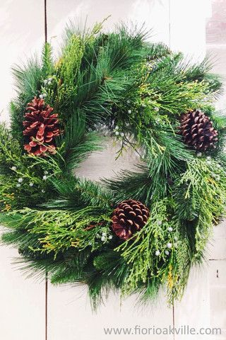 Lush and rich Christmas wreaths now available online and in store #Downtown #Oakville