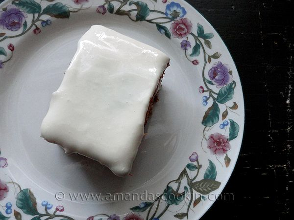 Low Fat Carrot Cake @amandascookin