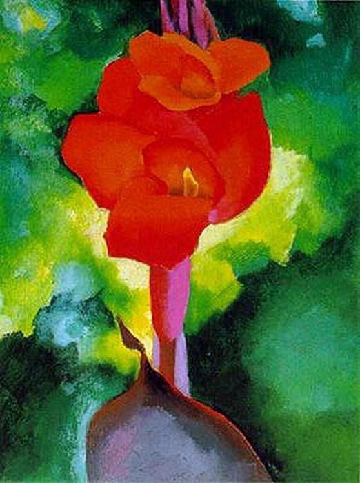 kaufen Gemälde'Red Canna' von Georgia O'keeffe - Kaufen Sie eine handgemalte Ölreproduktion , Kunstreproduktion, Ölgemäldereproduktionen, Kunst auf Leinwand, Kunstwerksreproduktion, Leinwand Ölgemälde Reproduktion Kunstwerk