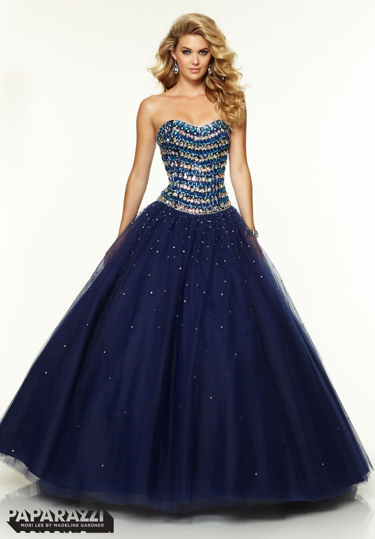 Prom Dresses / Gowns Style 97094: Jeweled Beading on Tulle Ballgown http://www.morilee.com/prom/paparazzi/97094
