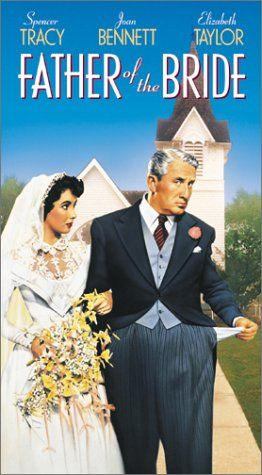 1950.  Directed by Vincente Minnelli.  With Spencer Tracy, Joan Bennett, Elizabeth Taylor, Don Taylor. A father of a young woman deals with the emotional pain of her getting married, and the financial and organizational pain of arranging her wedding.  Funny.