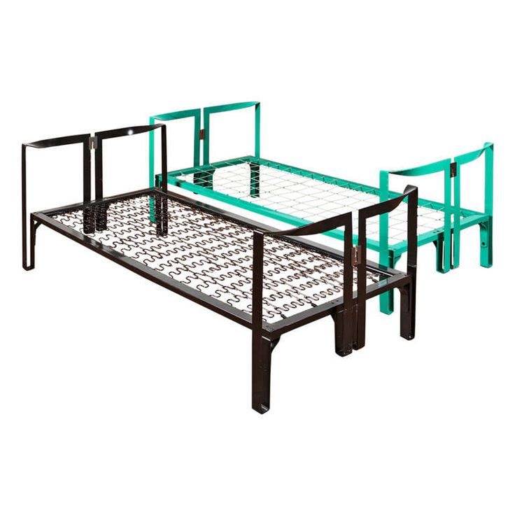 "Cool bed frames for kids! Set of Two ""Vanessa"" single beds by Tobia Scarpa for Gavina"