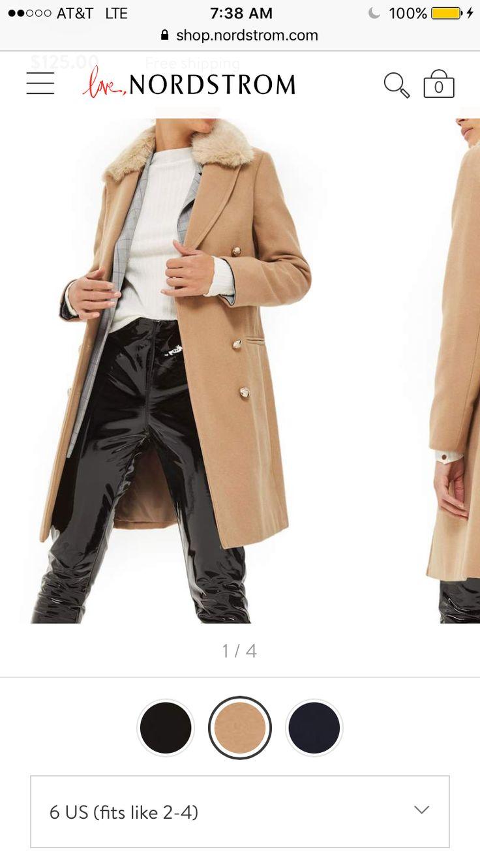 https://m.shop.nordstrom.com/s/topshop-nina-faux-fur-collar-double-breasted-coat/4782047?flexi=8000786_8000796&top=72&cm_mmc=Linkshare-_-partner-_-15-_-1&siteId=QFGLnEolOWg-iz.HHH2g0IEWvuuVLqYVHg size 6 camel from Nordstrom