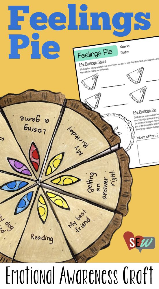 Emotional Awareness Craftivity for small groups or individuals in school counseling or speech therapy. Great for exploring feelings and understanding how you feel. Social Emotional Workshop