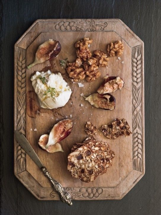 Upgrade your cheese and crackers with smashed figs, walnuts, and buratta 27 Delicious Ways To Eat Fresh Figs