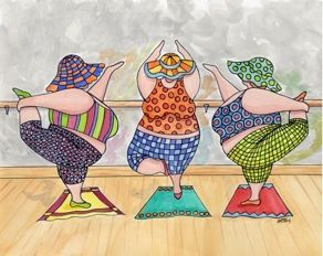 Tuchas haciendo ejercicio