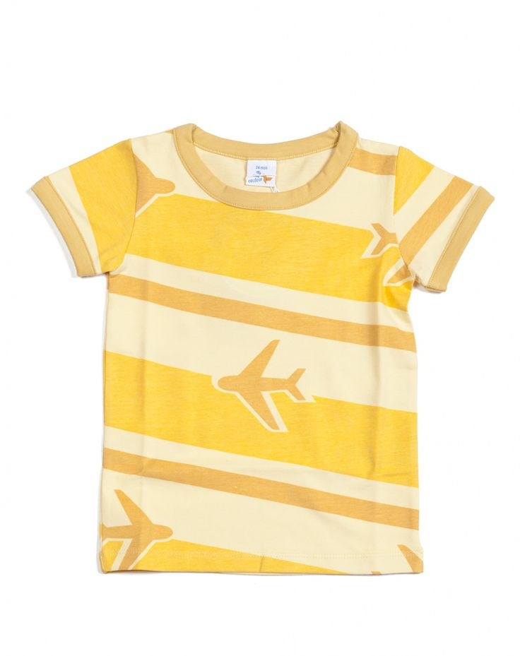 T-shirt Avion geel Dis Une Couleur T-shirt Jongen - Minifox - Online store - webwinkel van originele, kwaliteitsvolle designer baby- en kinderkleding