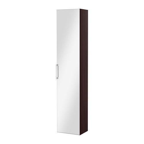 GODMORGON Hoge kast met spiegeldeur - zwartbruin - IKEA