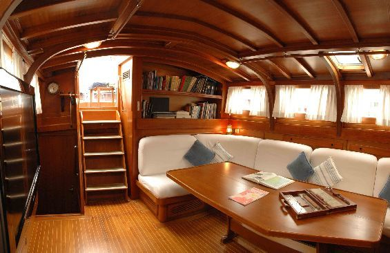 Classic Yacht Lady Sail -  Salon looking Aft