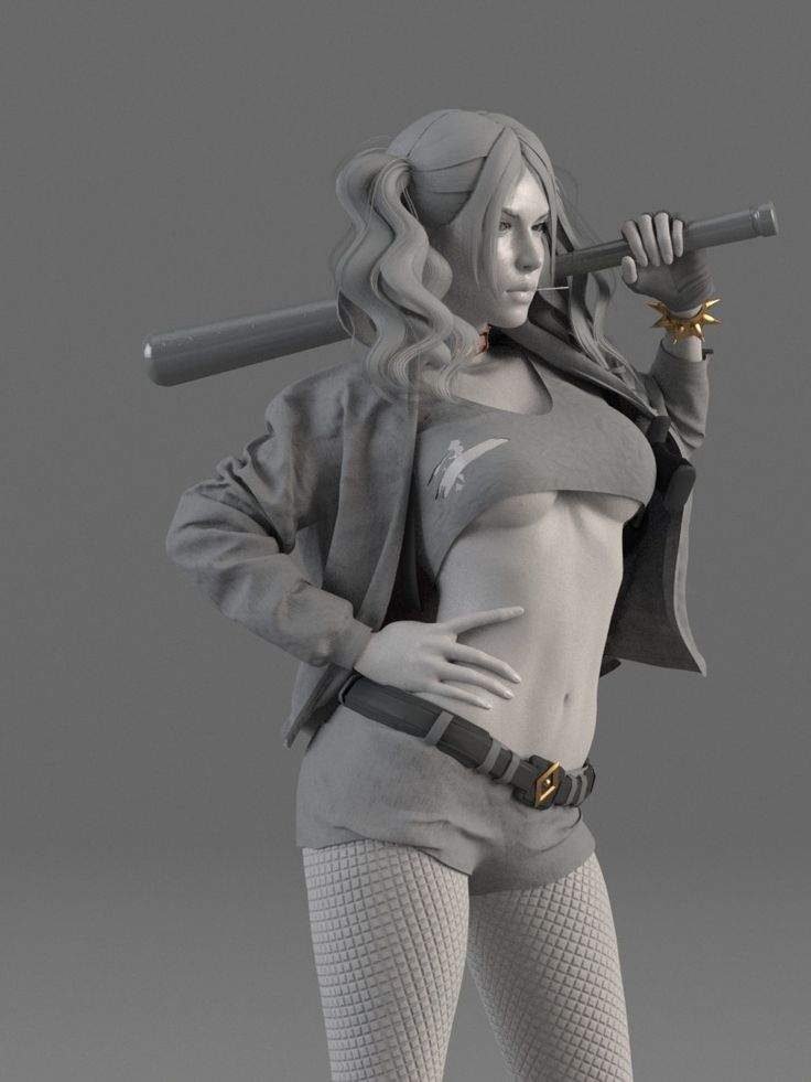 ArtStation - Harley Quinn - Suicide Squad - WIP, Caizergues Noel