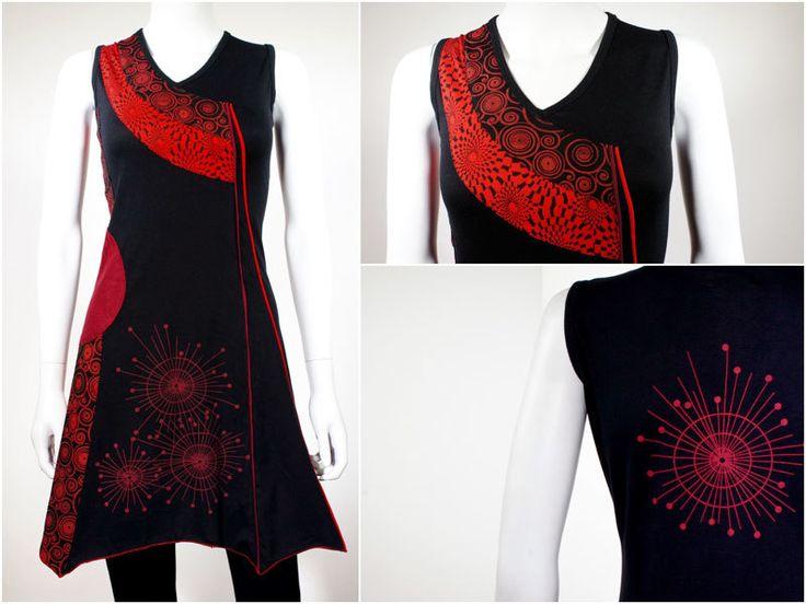 Tunieken - Asymmetrische jurk met grafische print - Rato - Een uniek product van Filosophie op DaWanda