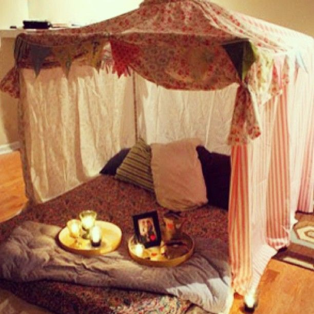 Indoor fort for picnics or smooches.