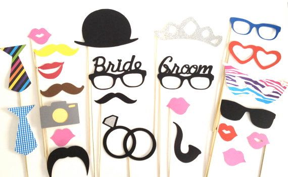 Hey, I found this really awesome Etsy listing at https://www.etsy.com/listing/120733478/sale-set-of-24-photo-booth-props-bride