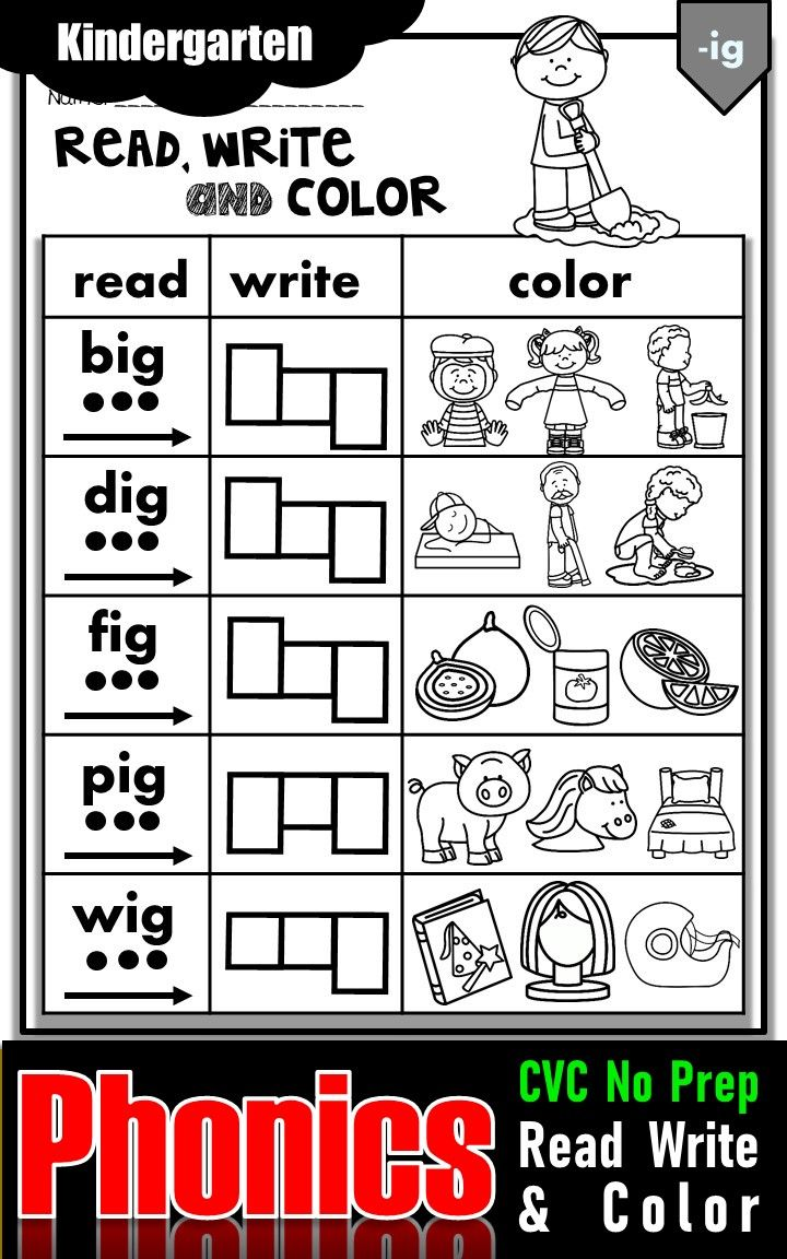 Phonics Activities And Worksheets For Kindergarten Phonics Kindergarten Phonics Cvc Phonics Activities [ 1152 x 720 Pixel ]