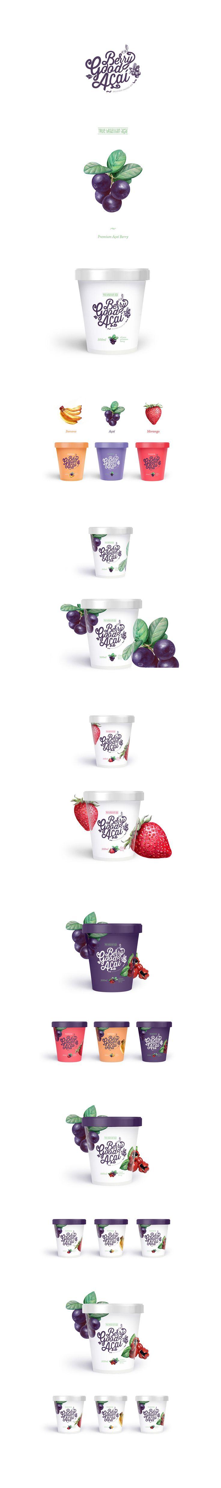 Berry Good Açaí frozen mix by on Brain&Bros DZ. Source: Packaging Design Served. #SFields99 #packaging #design