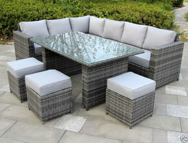 Conservatory Papaver range Rattan garden furniture set 9 seater dining set  Grey. 17 best images about definite on Pinterest   Trees  Lounges and Monaco