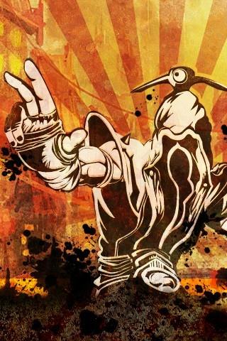 Lee Sin - Urban Line Art - iPhone Background