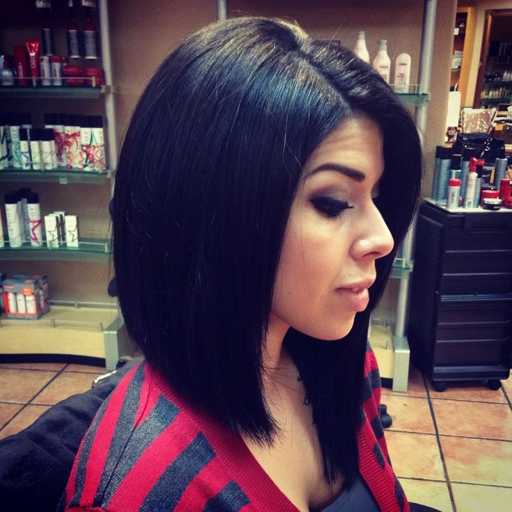Long Asymmetrical Bob | Short to long haircut, bob, angled ...