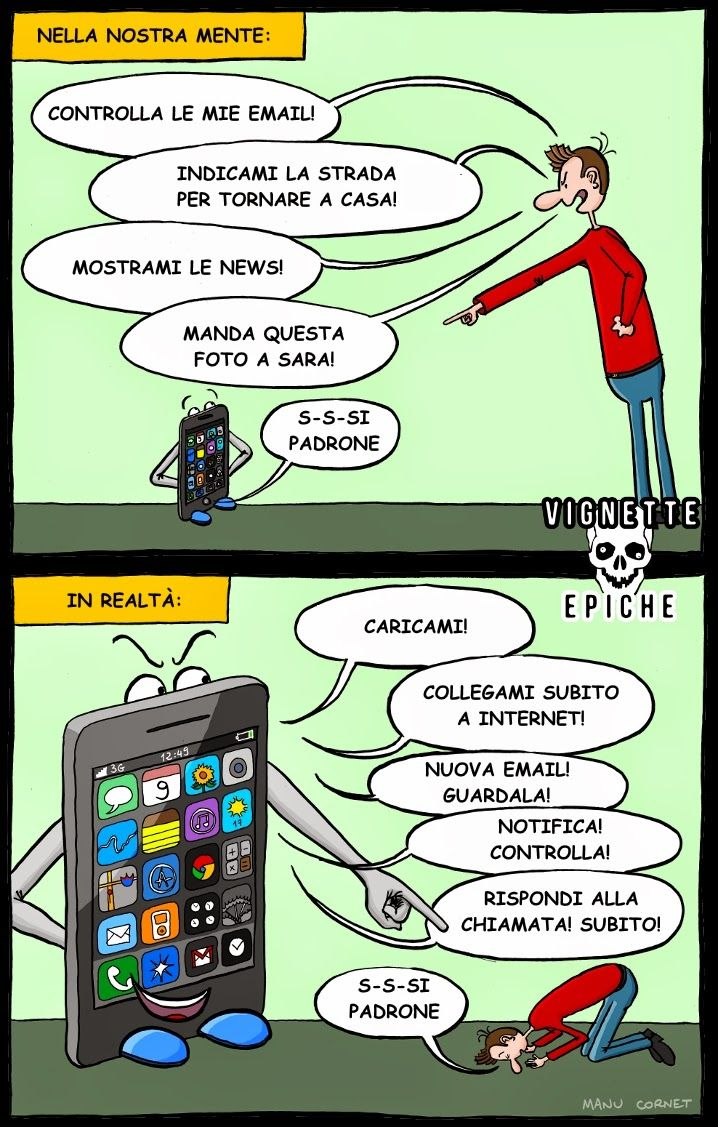 Vignette Epiche: Smartphone---QUESTA VIGNETTA E' DIVERTENTE, COMUNQUE.