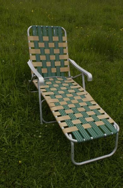 70s lawn furniture...spent many summer days laying out in the backyard on one of these...