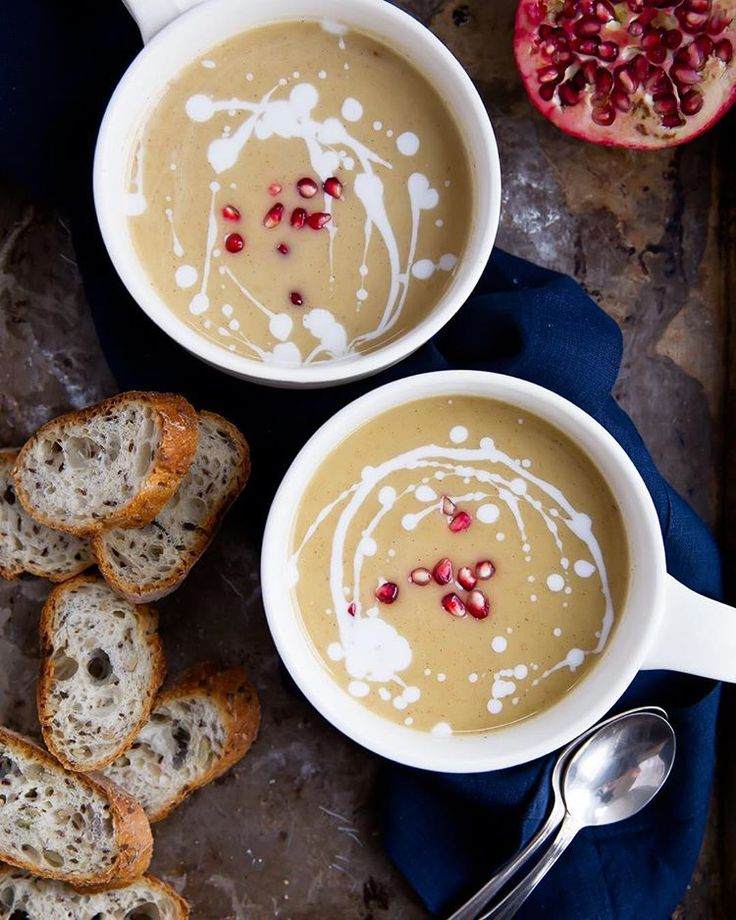 This beautiful vegan white bean & roasted butternut squash soup is on ...