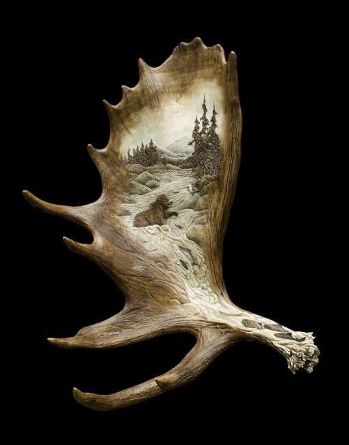 Les meilleures images du tableau antler carvings sur