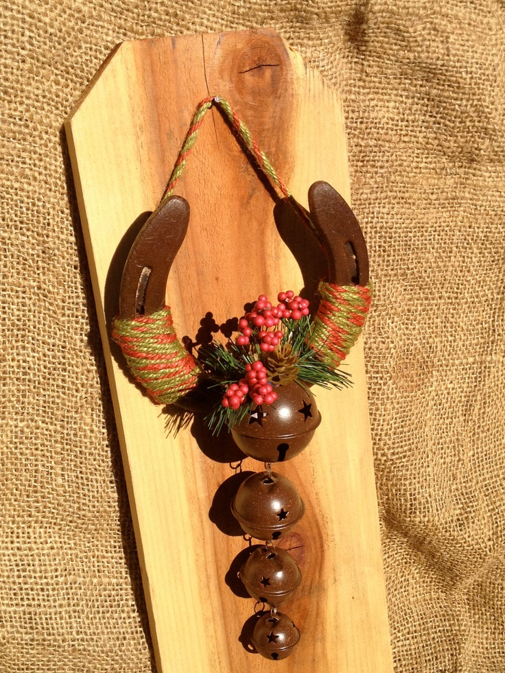 Jingle Bells Lucky Horseshoe by RusticLuck on Etsy